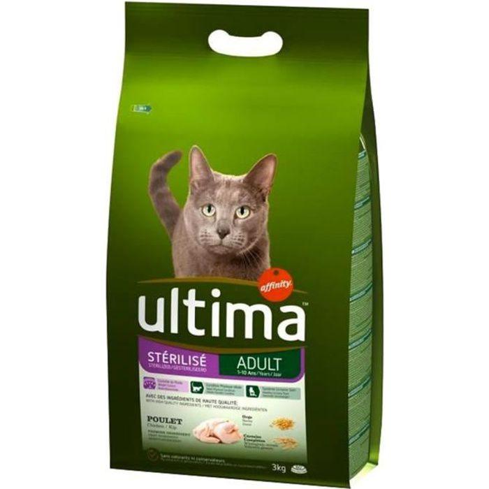 Ultima Croquettes Chat Stérilisé Adult Poulet 3kg (lot De 2)