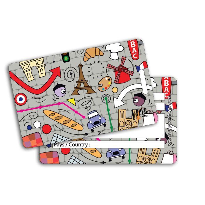 Etiquette bagage ben comic paris achat vente porte for 1 porte etiquette de voyage