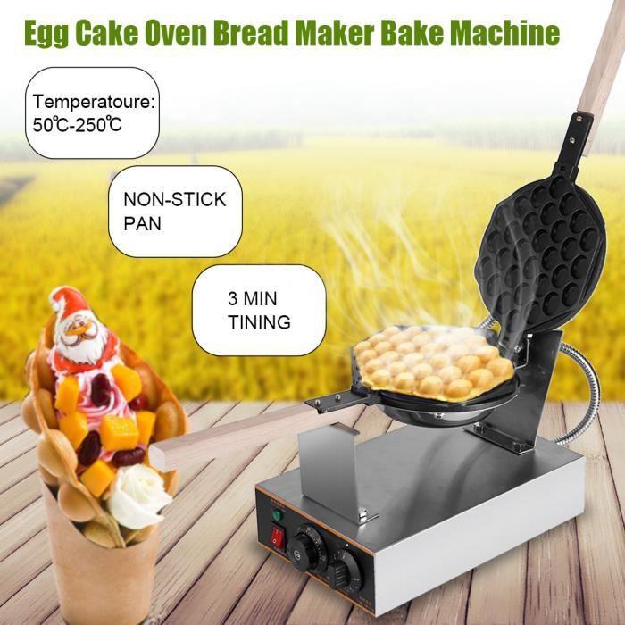 Gaufrier Electrique Oeuf Gâteau Four QQ Egg Waffle Baker Maker ...