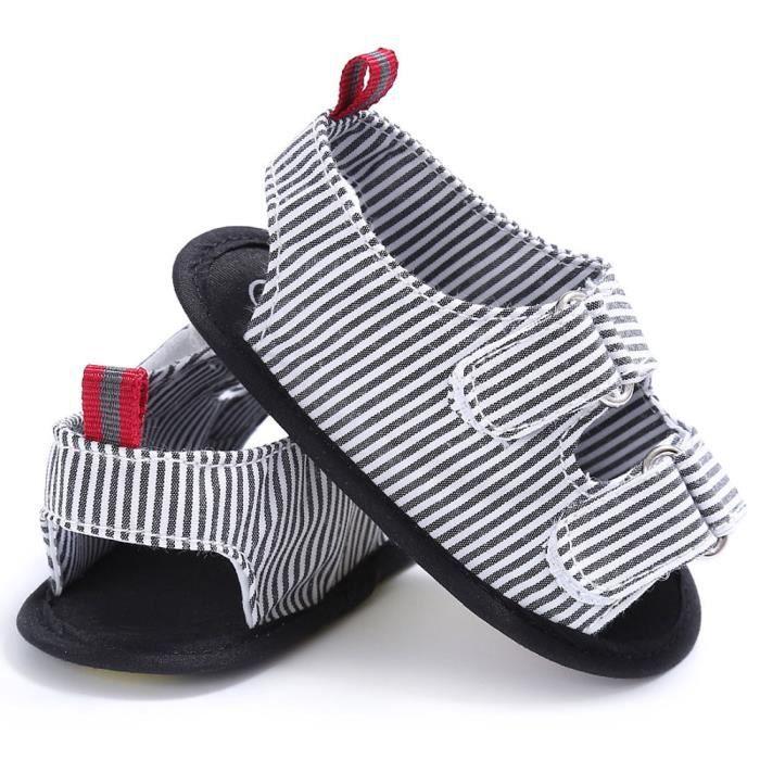 BOTTE Bébé Nourrissons Enfants Fille garçons Doux Sole Crib Toddler Nouveau-Né Sandales Chaussures@NoirHM