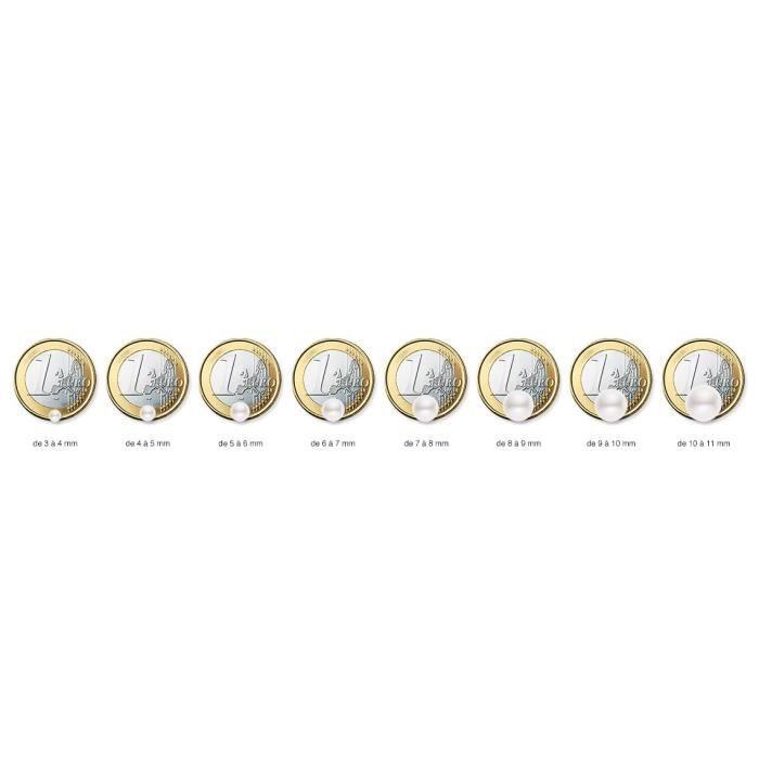 Créoles - Or Blanc 9 Cts - Perle Deau Douce - Am-9boc 133 P5b-pk Z1UF5