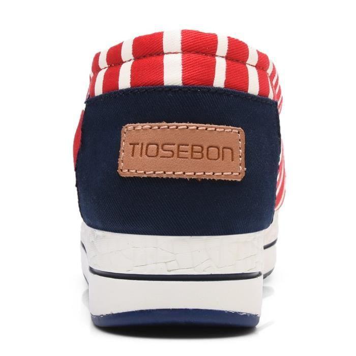 Toile Slip-on Tonique chaussures de marche espadrille RYRS8 Taille-37
