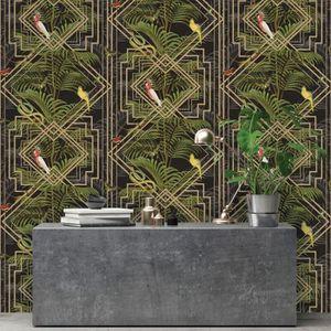 PAPIER PEINT Holden Decor papier peint Congo motif tropical noi