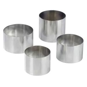 EMPORTE-PIÈCE  NONNETTES RONDES INOX Diametre:5 cm - Hauteur:5 cm