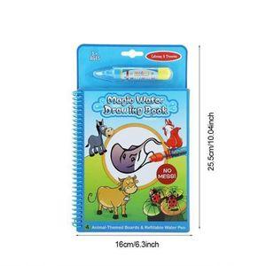 LIVRE DE COLORIAGE Enfants Dessin Coloriage Portable Magic Water Livr