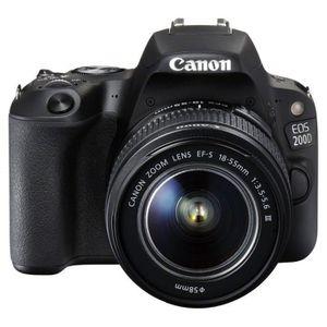 APPAREIL PHOTO BRIDGE Canon EOS 200D - Appareil Photo numérique SLR Set