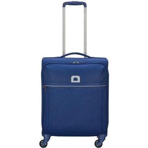 TROLLEY MATERIEL Delsey Brochant 4 Wheels Slim Cabin Trolley 55 blu