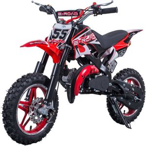 MOTO E-ROAD Dirt Bike Pocket Cross 49.9 cc - Rouge