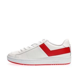 BASKET PONY SNEAKERS Homme WHITE RED, 43