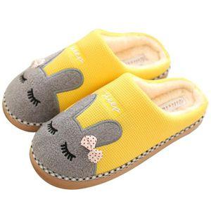 Pantoufles en peluche chaudes de l'enfant Licorne confortables pantoufles mignons antidérapantes douces chaussures plates 28-39 tcPaJAs