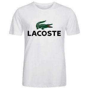 mode la plus désirable classcic personnalisé Homme Unique Personnalisé Coton T shirt Lacoste Logo ...