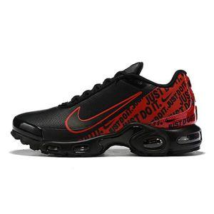 outlet store e2173 33da8 Nike Air Max Plus TN SE Noir Rouge Chaussures De Course.