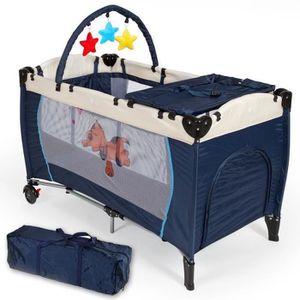 LIT PLIANT  OOBEST® 77*23*23cm bleu lit parapluie, lit bébé pl