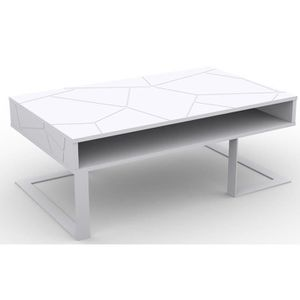 Basse Table Vente Pied Achat Pas Metal Cher Blanc dCexBo