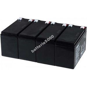BATTERIE VÉHICULE Batterie gel-plomb Powery pour USV APC RBC24 12...