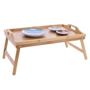 TABLE DE CUISINE  (2Pcs) Table pliante portable multifonctions Bambo