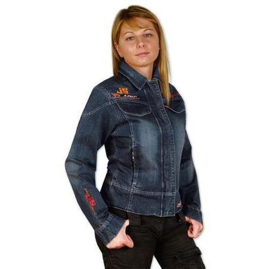 Blouson moto femme en jean