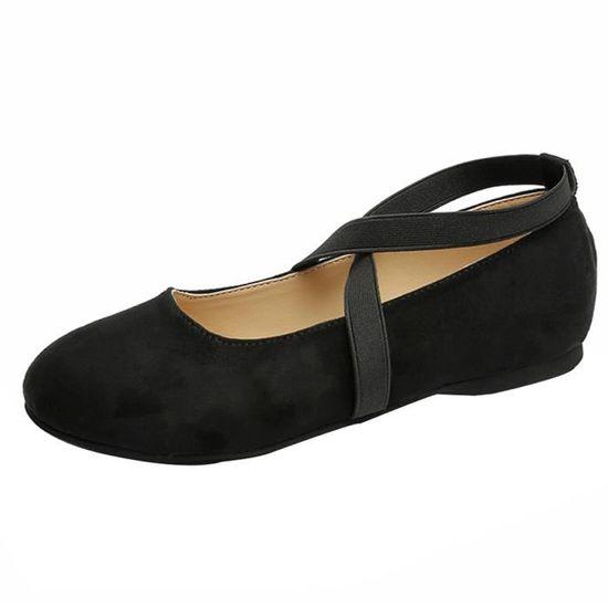 Pilerty®Bottes femmes bas plats à glissière sur les bottes à la cheville chaussures casual bottes martin@Noir Noir Noir - Achat / Vente botte