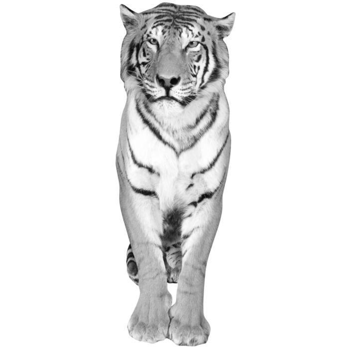 Thème : Animaux - Sticker Décor mural adhésif 3XL - Tigre Noir et blanc58,2x172 cmSTICKERS - LETTRES ADHESIVES