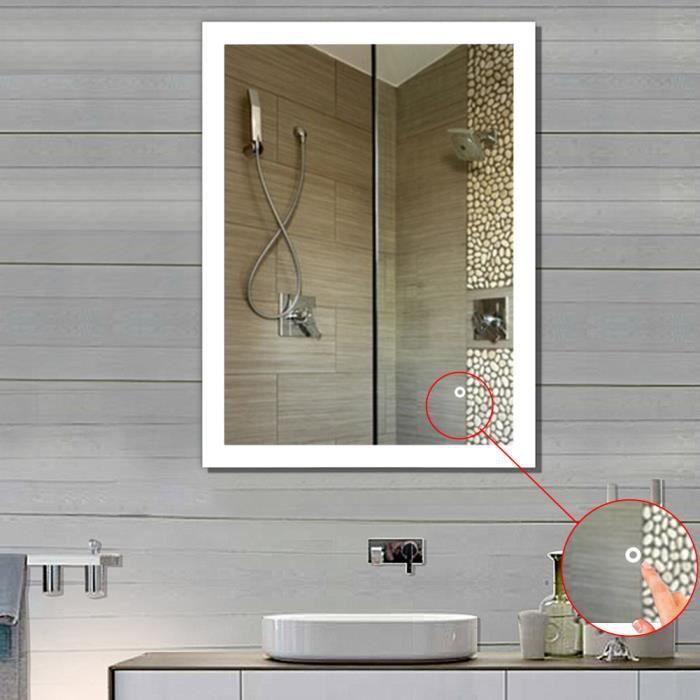 Buée Salle Lampe Éclairage 90 Miroir Anti De Mural 70cm Bain Led VqSMzpUG