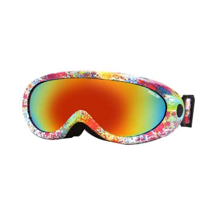 Adultes et lunettes de ski Lunettes de sport Alpinisme anti-brouillard pour enfa uUL5OU