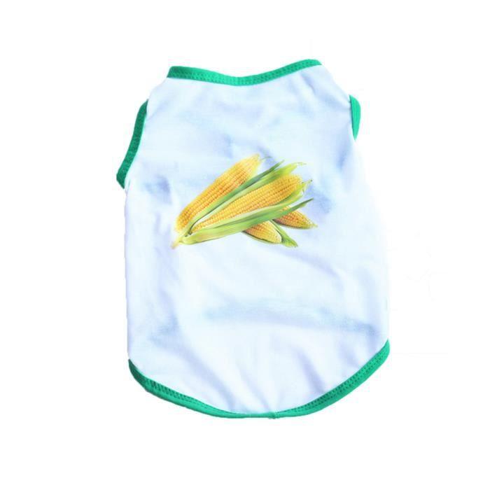 Banconre® Maïs Vêtements Pour Gilet Été Animaux Petit Chemise nbsp;animal Chiot Chien blancuu Chat Domestiques mN8nw0