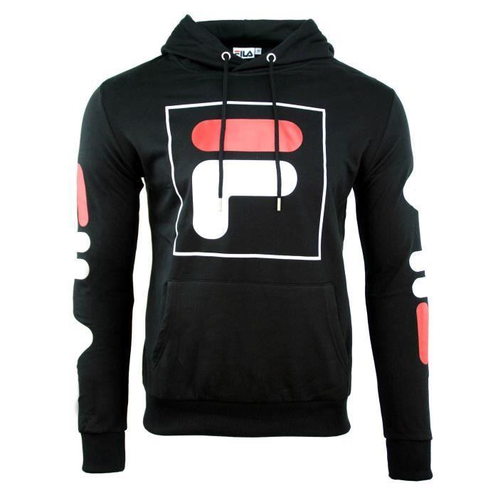 84dc37a66bfe SWEAT CAPUCHE FILA HOMME Noir NOIR - Achat   Vente sweatshirt ...