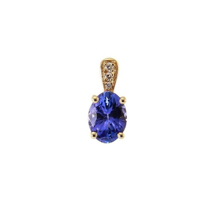 Pendentif Or 750 Tanzanite ref 45683 Bleu
