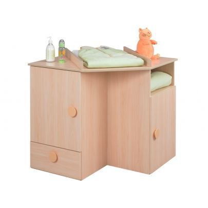 Meuble langer d 39 angle minot coloris rable achat for Commode d angle chambre