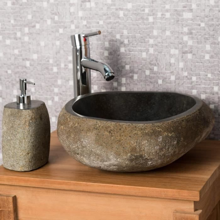 vasque à poser en pierre naturelle salle de bai  achat