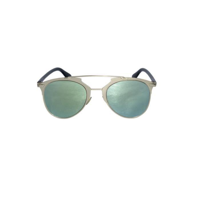 Lunettes de soleil réflecteur de style vert LJMYV