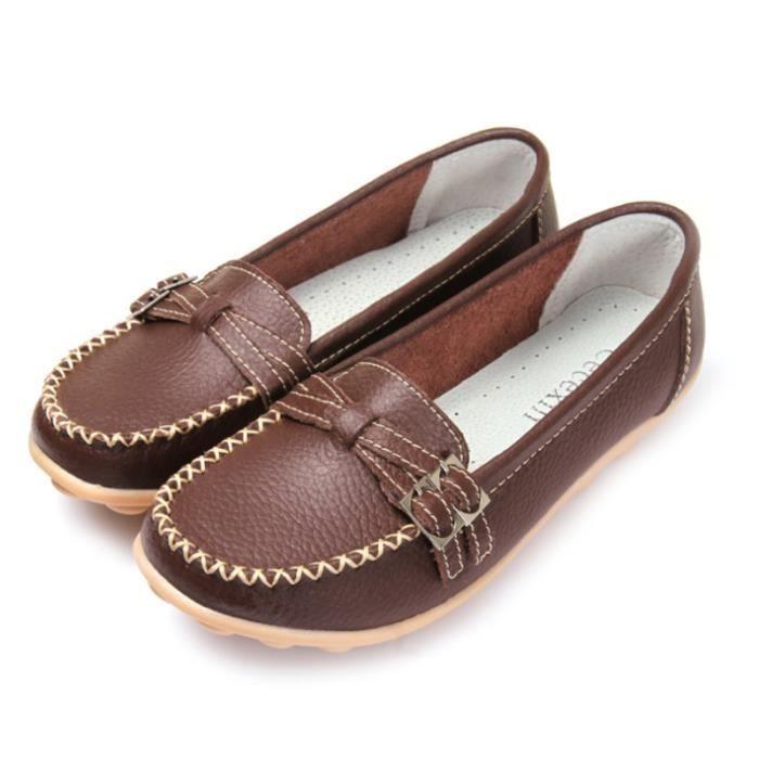 Chaussures Femmes En Cuir Cuir En Véritable Mocassins Nouvelles Mocassins 55457f