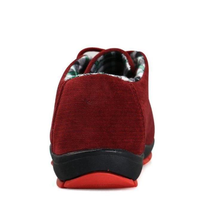 42 LéGer Basket Respirabilité Casual Flexibilité Compensé Homme Slip Et S668 rouge Maintien R00188376 Mode On w1qa17