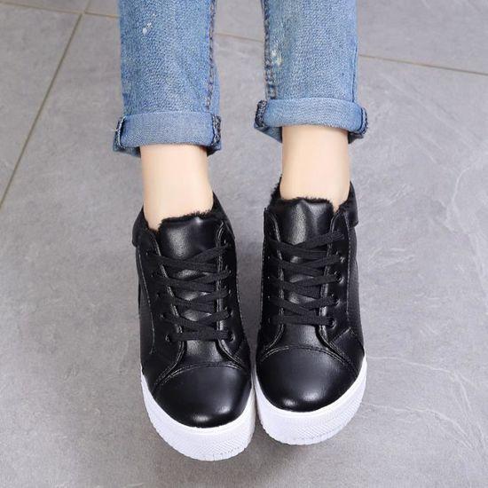 Basket Chaussures de sport plus chaud pour femmes et et et chaussures féminines, Noir Noir - Achat / Vente basket 35afa1