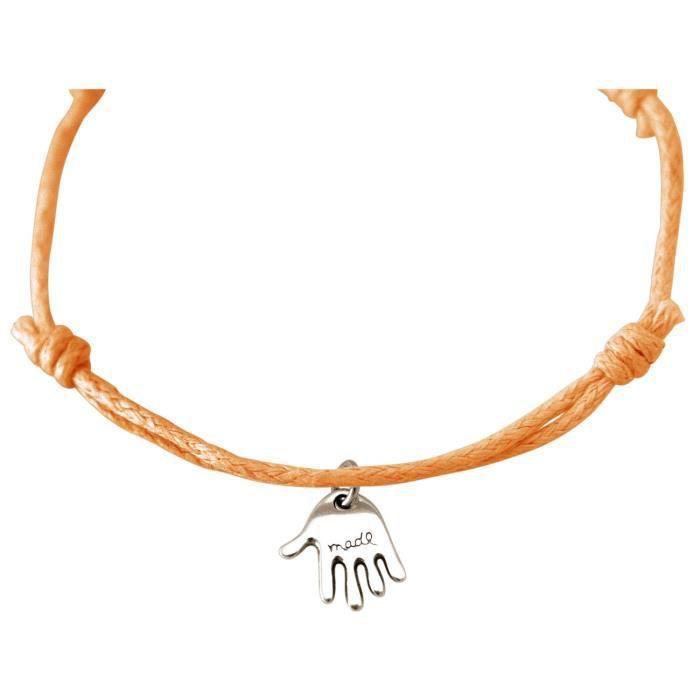 Gemshine - Dames - Bracelet - Gravure - TENIR TRANQUILLE - Argent - corail lumineux - Rose