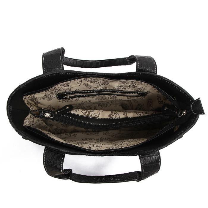 Sac à main de lOuest - Classique Concho gaufrée Concealed Carry Sac à franges ROHMN