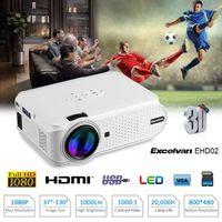 Vidéoprojecteur Excelvan Mini Projecteur Portable Multimédia LED 8