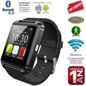 MONTRE CONNECTÉE Bluetooth Montre connectée Smartwatch Noire pour