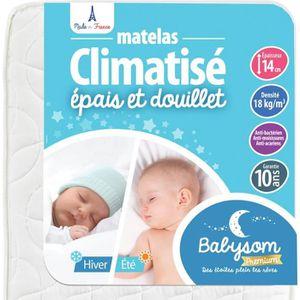 MATELAS BÉBÉ Babysom - Matelas Bébé Climatisé Eté/Hiver - 60 x