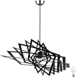 suspension luminaire metal noir achat vente pas cher. Black Bedroom Furniture Sets. Home Design Ideas
