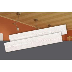 LAMBRIS BOIS - PVC Decosa Lambris Stockholm, frêne blanc, polystyrène