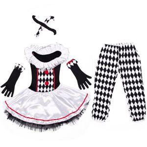 DÉGUISEMENT - PANOPLIE Costume de Deguisement Clown Harlequin Jester Cirq