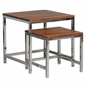 TABLE D'APPOINT WOHNLING 2er Set Set de table Table d'appoint en b
