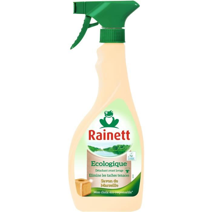 Rainett Détachant Universel Avant Lavage Ecolabel Savon de Marseille - Spray 500ml