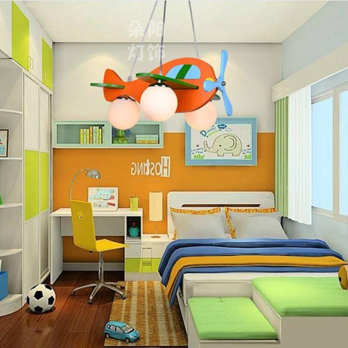 Cartoon Orange Avion en bois Chambre pour enfants Chambre pour ...