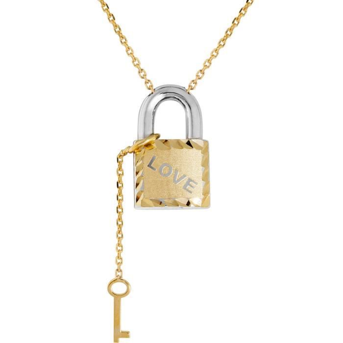 71914504b - Collier Femme - Or Bicolore 375-1000 (9 Cts) 2.15 Gr Z8P0R