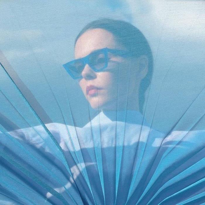Femmes Mode chat ðilletons Lunettes de soleil intégré UV Bonbons Colorés Lunettes B bleu-WDL70719468B_1234