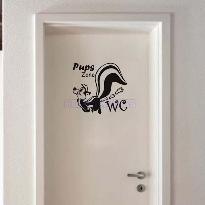 Noir chiots stickers muraux pour toilettes cr atifs for Applique murale wc