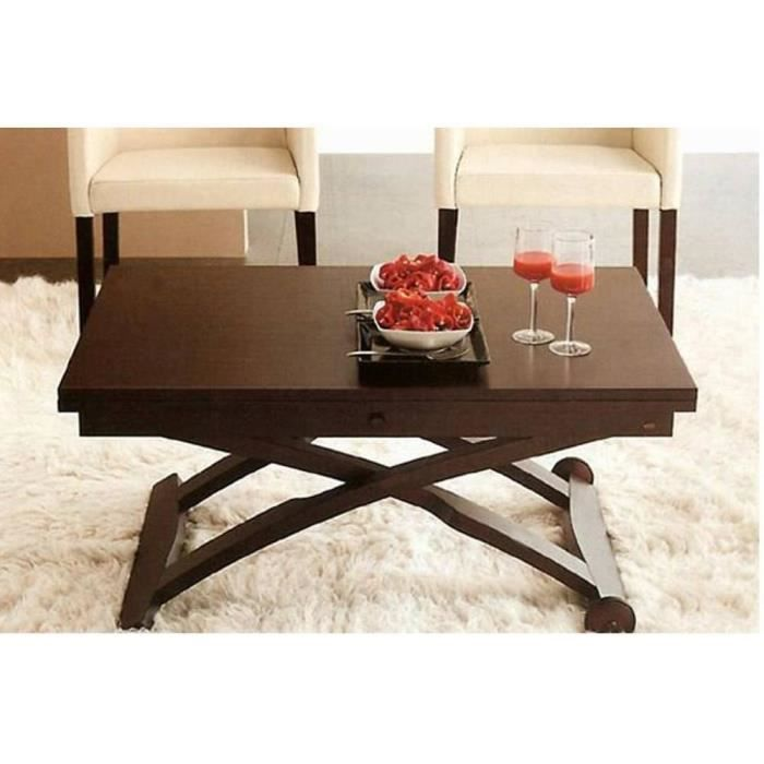 Table Basse Relevable Extensible Italienne Mascotte Wenge Achat