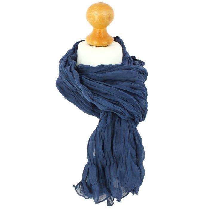 00c2341a98ba Chèche coton, Bleu Petrole - Achat   Vente echarpe - foulard ...